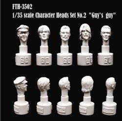 画像1: SWASH DESIGN[FTH-3502]Character Head Set No.2 (1/35)