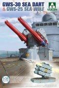 タコム[TKO2138]1/35 GWS-30 シーダート 艦隊防空 ミサイル & GWS-25 シーウルフ個艦 防空ミサイル