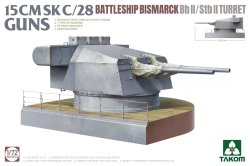 画像1: タコム[TKO5014]1/72 ドイツ海軍 戦艦ビスマルク SK C/28 15cm (55口径) 連装砲 BbII/StbII 砲塔