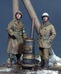 The Bodi[TBO35172]1/35 WW.II 米陸軍 憲兵 & 兵士 w/薪ストーブ 「アルデンヌ 1944年」