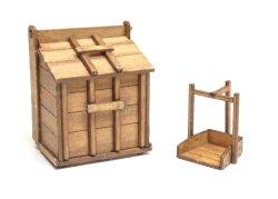 画像1: twilight model[TAS-05] 1/35『木製ゴミ箱』