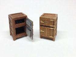 画像1: twilight model[TAS-02] 1/35 『木製冷蔵庫』組み立てキット
