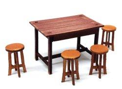 画像1: twilight model[TAS-03] 1/35 『テーブルと椅子のセット』組み立てキット
