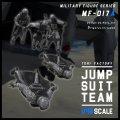 トリファクトリー[MF-17A]1/48 現用 HALO降下するジャンプスーツチーム(5体入)