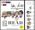 トリファクトリー[HD-05]1/24 アクセサリー ヘッドシリーズ-5 モダンヘッドセット2(5個入り)