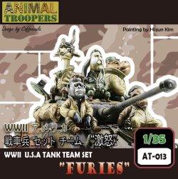"""画像1: ジルプラ[AT-013]1/35 WWII アメリカ 戦車兵 セット チーム """"激怒"""""""