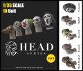 トリファクトリー[HD-02]1/35 アクセサリー ヘッドシリーズ2 ハロウィンマスクヘッドセット1(10個入)