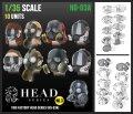 トリファクトリー[HD-03A]1/35 アクセサリー ヘッドシリーズ3 マスクヘッドセット2 ガスマスク(10個入)
