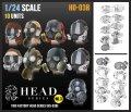 トリファクトリー[HD-03B]1/24 アクセサリー ヘッドシリーズ3 マスクヘッドセット2 ガスマスク(10個入)