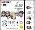 トリファクトリー[HD-04]1/24 アクセサリー ヘッドシリーズ-4 モダンヘッドセット1(5個ビーノ用クリアパーツ付)