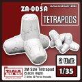 トリファクトリー[ZA-005A]1/35 現用 テトラポッドセット 2個入り