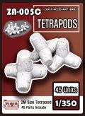 トリファクトリー[ZA-005C]1/350  現用 テトラポッドセット 45個入り