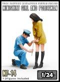 トリファクトリー[MF-14]1/24 規則で丈を計る警官と嫌がる女子