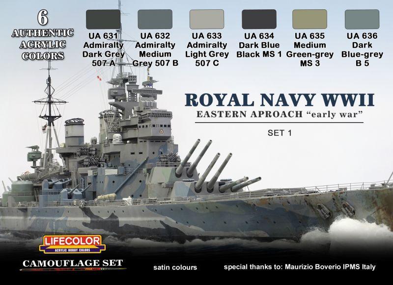 ライフカラー[CS-33] WWII 英国海軍カラーセット #1 イースタン ...