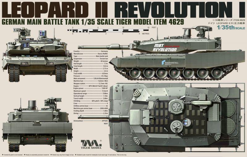 タイガーモデル[TM-4629]1/35 レオパルト2 レボルーションI 主力戦車 ...